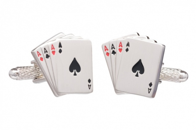Four Aces Playing Card Cufflinks